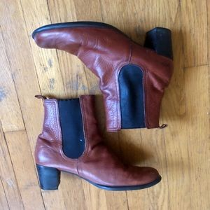 Arche Brown Leather Chelsea Boots